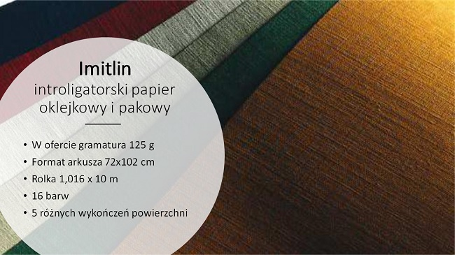 Introligatorski papier do opraw Imitlin 125g